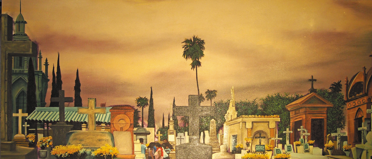 Panteon de Mezquitan, oil on canvas, 2015