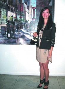 Aileen Frick's opening at {9} Gallery