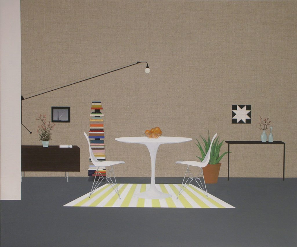Carmodern interior 2008 acrylic on linen 20x24 Lisa Sette Gallery